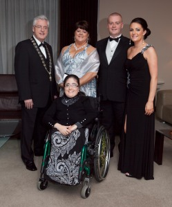 Family Time: Me with my wife, daughter & son at my President's Dinner last Friday night